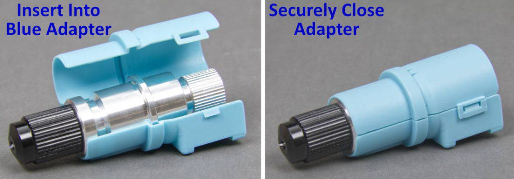 CB09 Blade Holder Mounted in Silhouette Blue Adapter