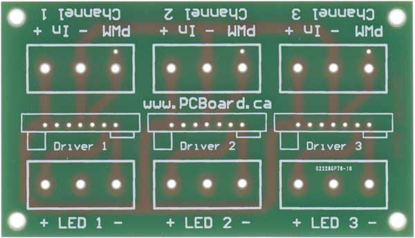 High Power LED Driver Board For 1 or 3 Watt LEDs - Bare Board