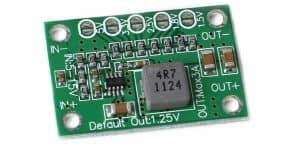 Mini adjustable power module for 5v, 3.3v, 2.5v, 1.8v and 1.5v